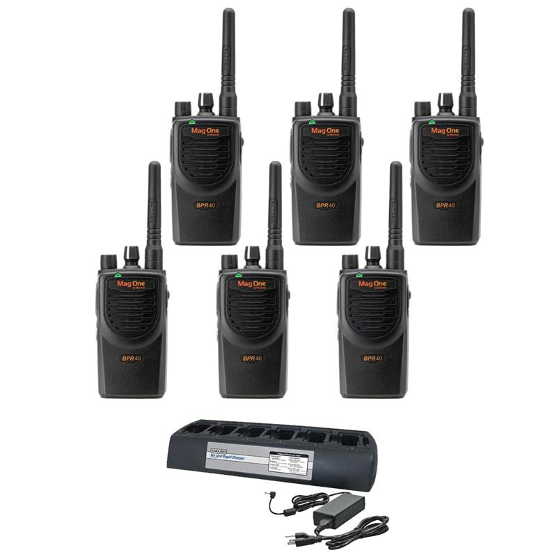 Motorola BPR40 6 Pack with Endura Multi-Charger