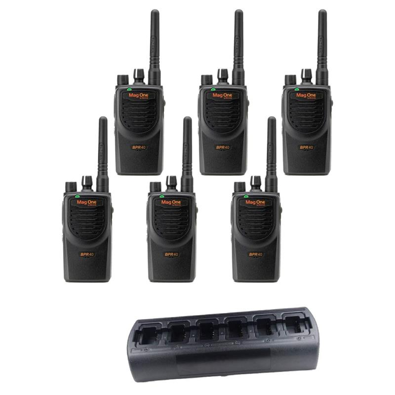 Motorola BPR40 6 Pack with Multi-Charger