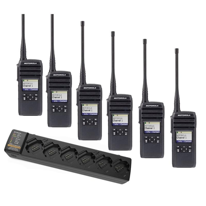 Motorola DTR700 6 Pack with Multi-Charger