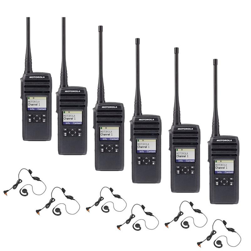 Motorola DTR700 6 Pack with Headsets