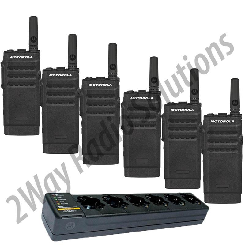 Motorola SL300 Radio 6 Pack with Multi-Charger