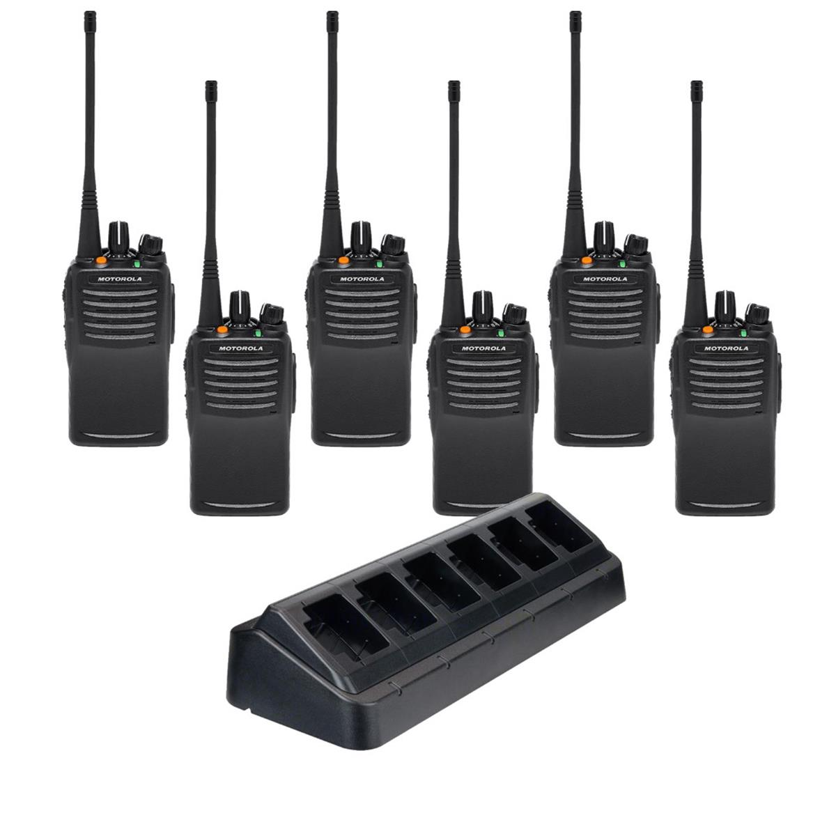 VX-451 VHF or UHF Radio 6 Pack w/Multi-Charger