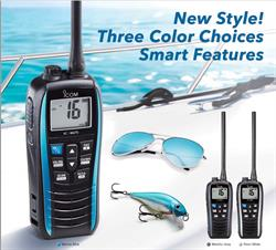 iCOM M25 Marine Radio in 3 colors