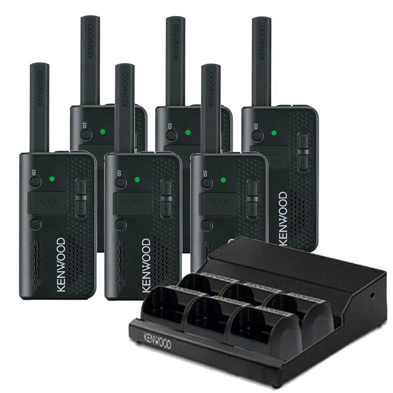 Kenwood PKT-23 6 Pack with Multi-Charger