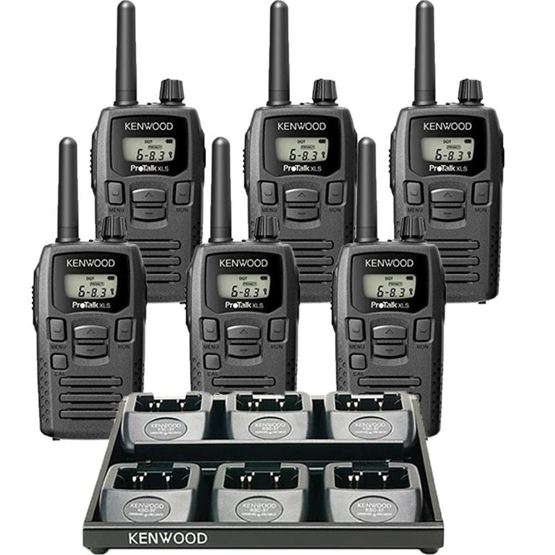 Kenwood TK-3230DX 6 Pack with Multi-Charger