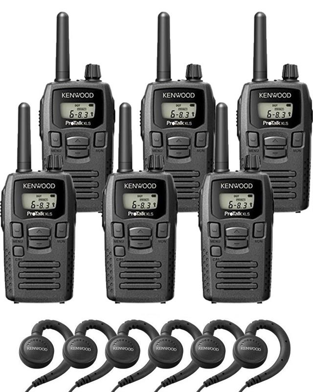 Kenwood TK-3230DX 6 Pack with Headsets